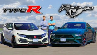 2019 Honda Civic Type R vs Ford Mustang Bullitt // Clash Of Cultures