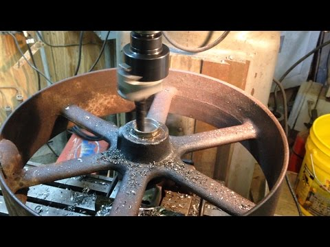 removing-stubborn-shafts-from-flat-belt-pulleys