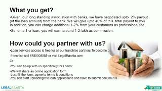 Low cost franchise opportunity for loan and financial services