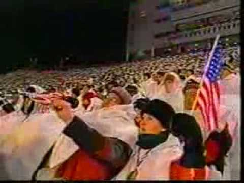 Daniel Rodriguez sings at 2002 winter Olympics