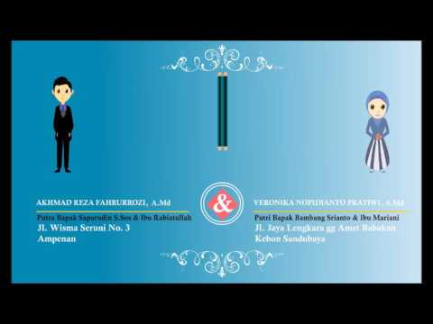 Animasi Undangan Pernikahan (Undangan digital)