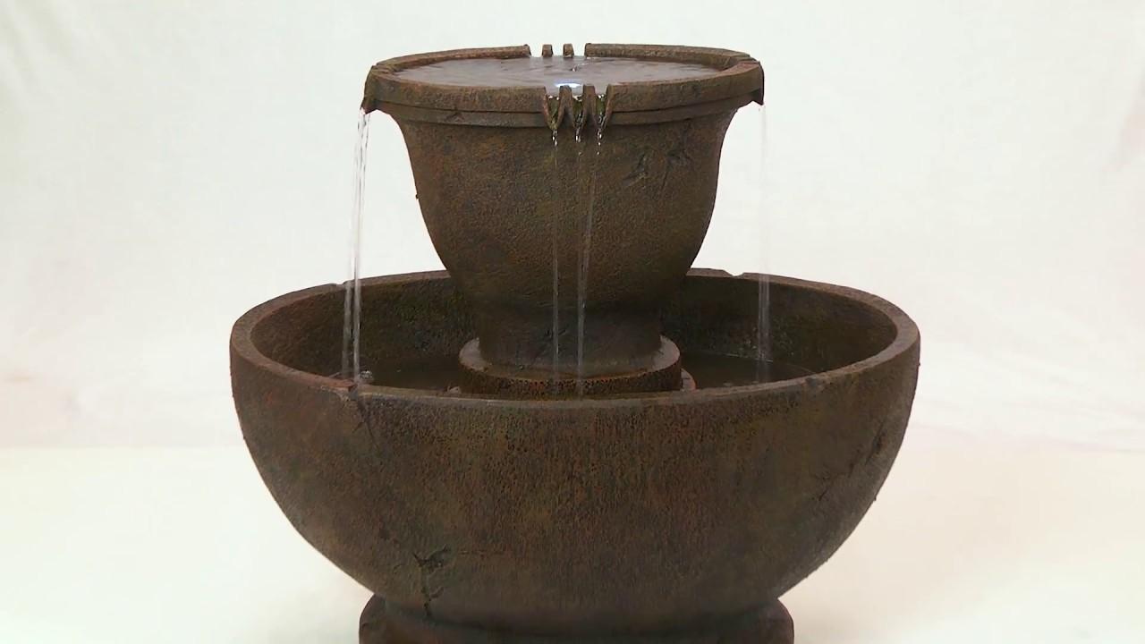 Design Toscano\'s Richardson Oval Urns Cascading Garden Fountain ...