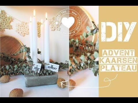 DIY Advent Kaarsen Plateau  |  Vestywo