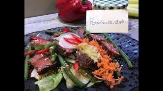 Салат с говядиной в азиатском стиле: рецепт от Foodman.club