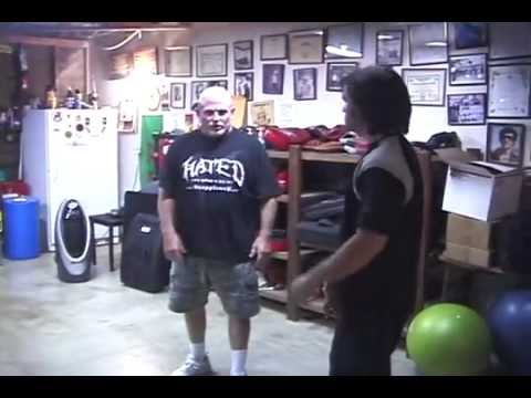 Clinch Fighting Techniques - Jim McCann workshop in Tim Tackett's garage (Summer 2012 - Student vid)