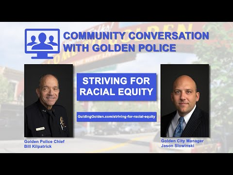 Community Conversation with the Golden Police - Nov. 30