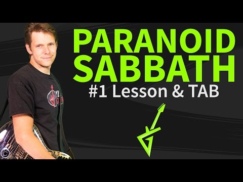 How to play Paranoid Guitar Lesson & TAB - Black Sabbath