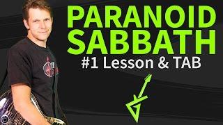 Guitar Lesson & TAB: How to play Paranoid by Black Sabbath - intro-verse-chorus