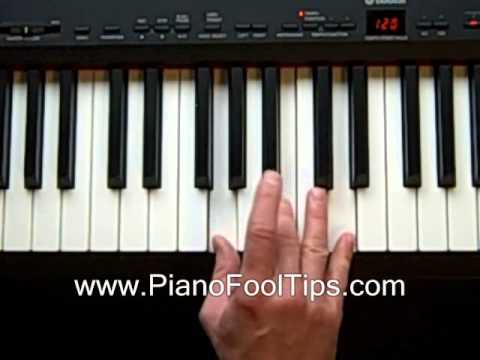 How To Play Piano- Lessons Finding the Gm Chord - YouTube