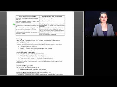 Basic Session 20 - Self Employment Income & Expenses 1 - 2012 Tax Law