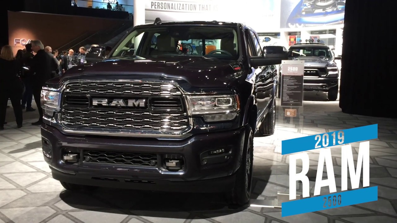 2019 Ram 2500 at Detroit auto show - YouTube