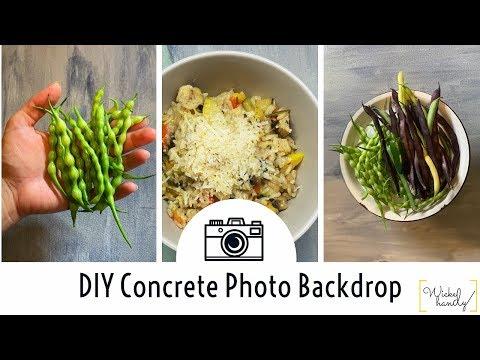DIY Custom Concrete Photo Backdrop