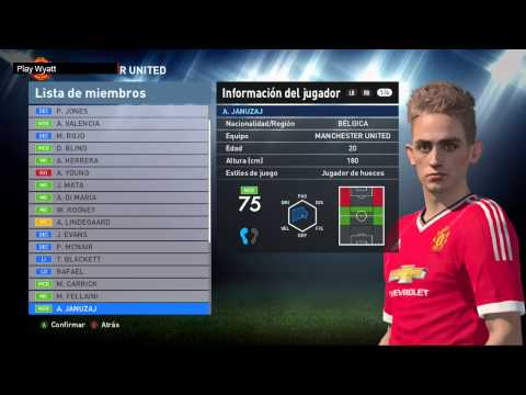 PES 2016 | Manchester United: Jugadores Y Caras | Players & Faces