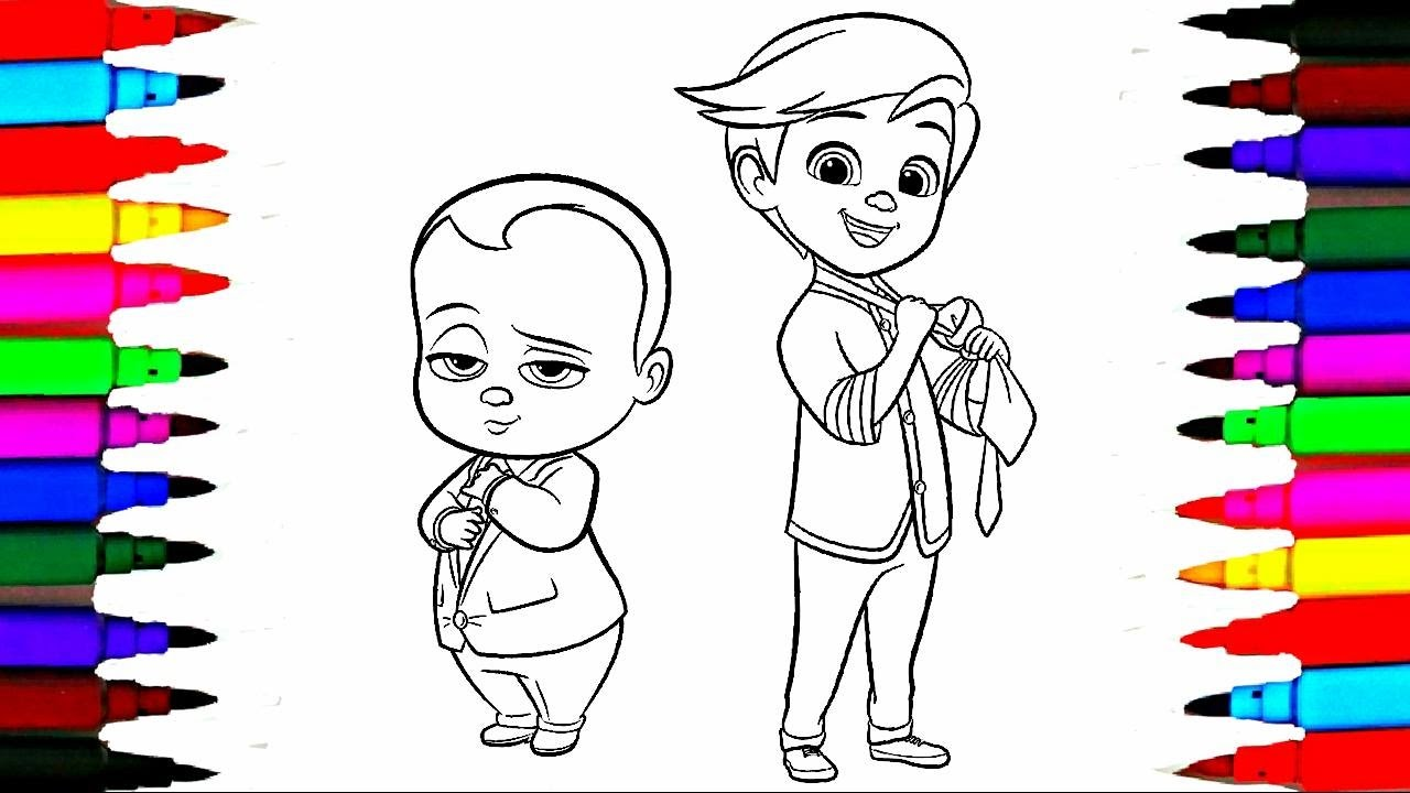 Colours For Kids Boss Baby Coloring Pages l Dreamworks Drawing