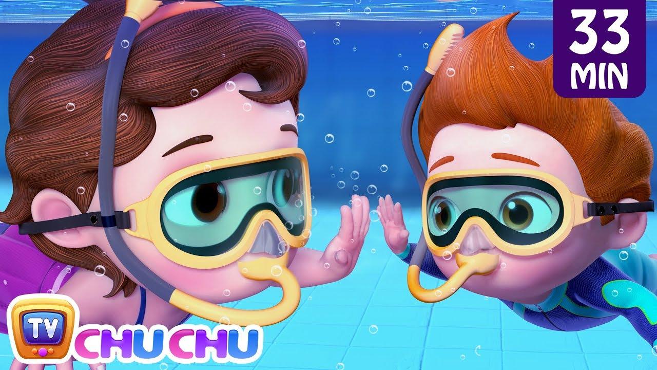 Swimming Song + More ChuChu TV Baby Nursery Rhymes & Kids Songs