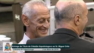 06ª Sessão Solene   Miguel Ortiz de Camargo   2019