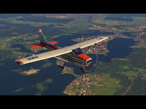 X-Plane 11 | Cessna 172 | Scenic fly from Vilnius over Trakai and back
