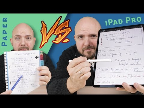 Paper Notebook vs iPad Pro and Apple Pencil in 2019