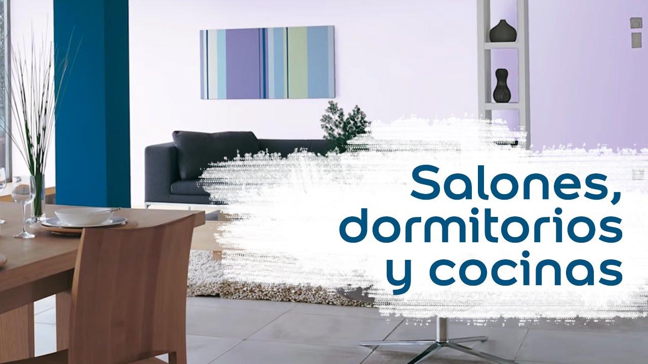 Colores para salones dormitorios y cocinas bruguer - Como pintar un salon en dos colores ...