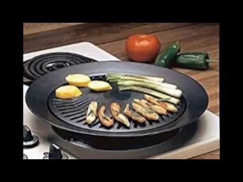 Chefmaster KTGR5 13-Inch Smokeless Stovetop Barbecue Grill - YouTube