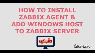 How to install Zabbix Agent On Windows Server - by Yalla Labs