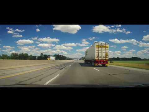 Driving on The Ohio Turnpike from Toledo to Sandusky
