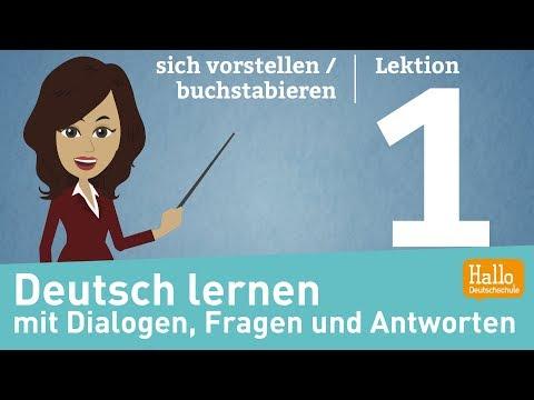 Deutsch lernen A1.1 / Lektion 1 / sich vorstellen / buchstabieren
