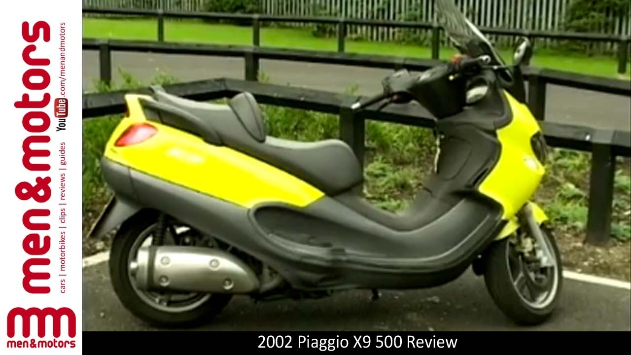 2002 piaggio x9 500 review - youtube