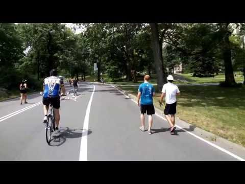Full Bike Ride through New York's Central Park Loop (6.2 miles, on a Citibike)