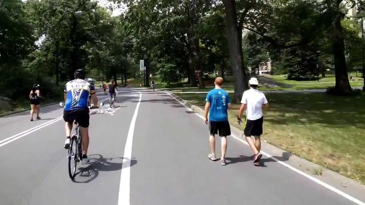 biking through central park auto hobby. Black Bedroom Furniture Sets. Home Design Ideas