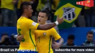 Brasil Lolos ke Piala Dunia 2018 Brasil VS Paraguay 3-0