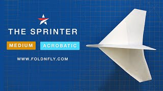 Fold 'N Fly ✈ The Sprinter Paper Airplane