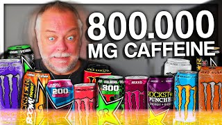 PAPANOMALY TRIES ENERGY DRINKS (800.000 MG CAFFEINE)