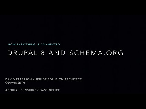 How Everything is Connected - Drupal 8 and Schema org