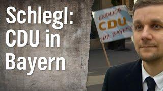 Schlegl in Aktion: Endlich die CDU auch in Bayern wählen!