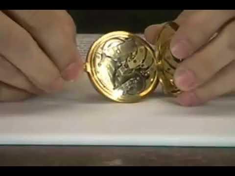 15350: Patek Philippe, Genève, Pocket Watch w/winding indicator & Guillaume balance