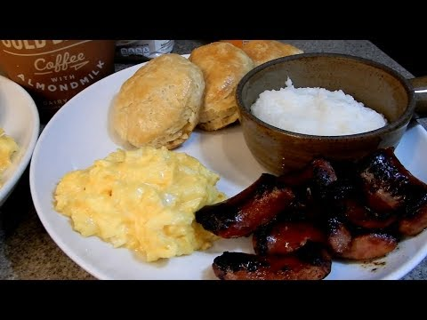 Asmr  - No Talking }   SIZZLING SOUNDS...Southern Style Breakfast