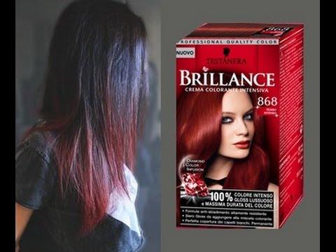 Colore capelli da nero a rosso