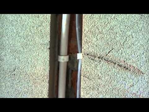 Укладка кабеля,провода. Укладка кабеля в штробе. Краснодар