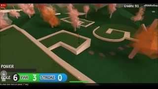 Roblox: Mini Golf - Gameplay