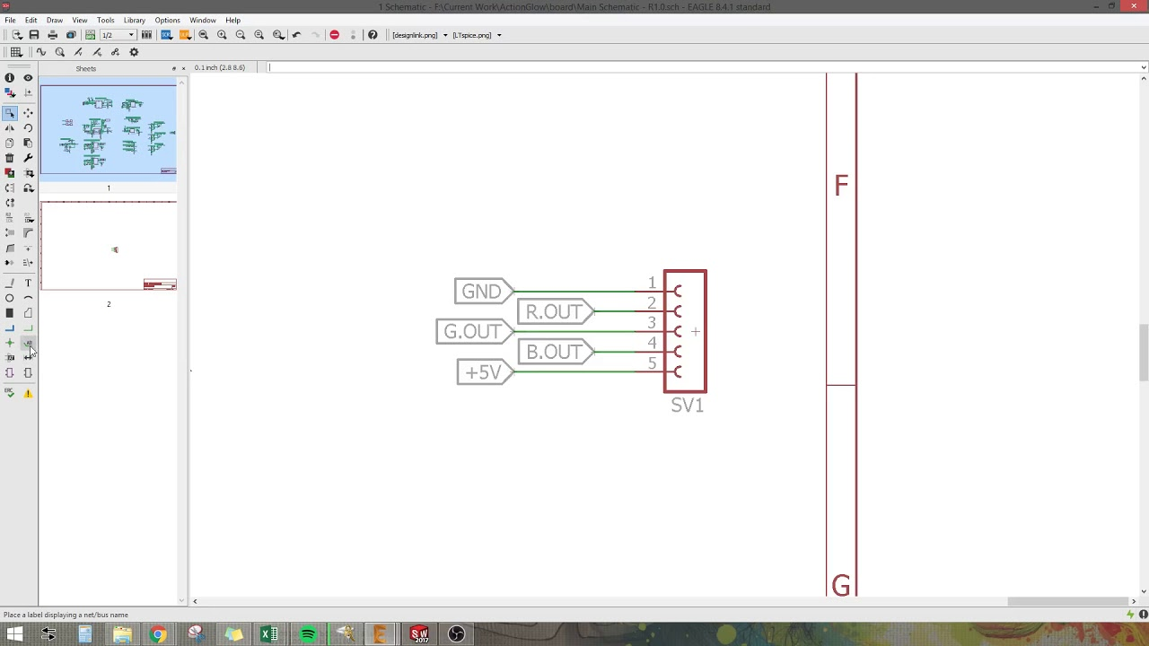 Eagle CAD - Connecting multiple sheets - YouTube