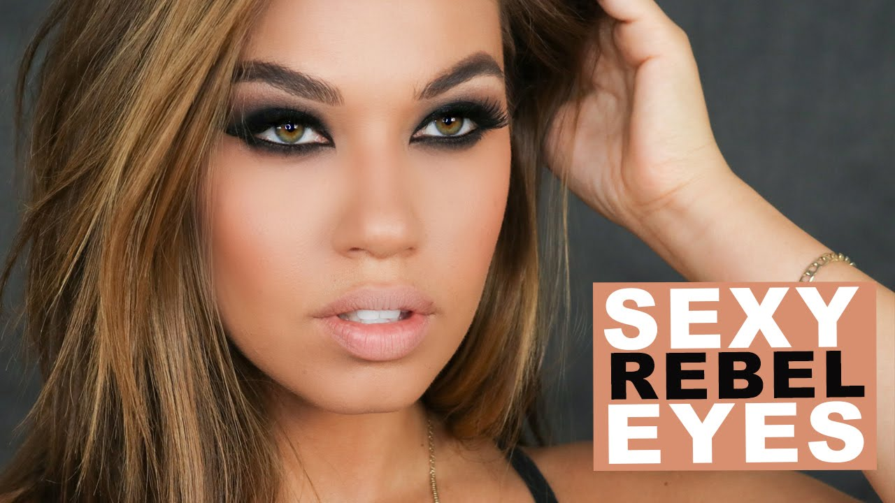 Sexy Rebel Eyes Makeup Black Brown Smokey Eye Makeup Tutorial