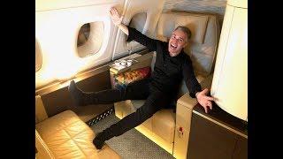 ETIHAD A380 FIRST CLASS THE APARTMENT Abu Dhabi-Paris