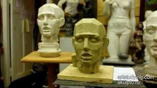 Пример лепки обрубовочной головы - Обучение скульптуре. Портрет, 5 серия