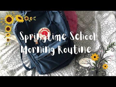 Springtime School Morning Routine ????????
