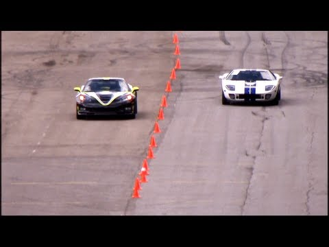 Chevrolet Corvette ZR1 vs Ford GT40 (Heffner GT-1000) @ 337 km/h