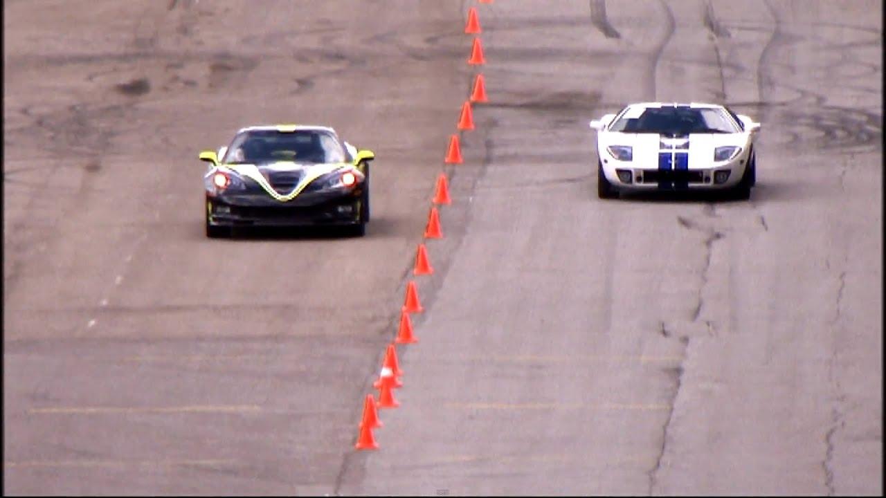 Chevrolet Corvette Zr1 Vs Ford Gt40 Heffner Gt 1000 337 Km H You