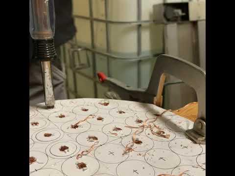 """10"""" x 5' Condenser - drilling copper"""