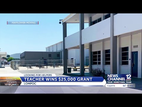 Lompoc Valley Middle School teacher wins $25K in nationwide contest, plans to grow ...