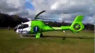 MedFlight 5 landing in my front yard (SHAKEY VIDEO)